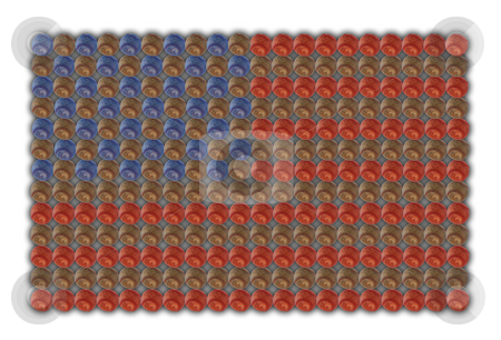 American flag of baseballs stock photo, American flag made out of baseballs isolated on white background by Stacy Barnett