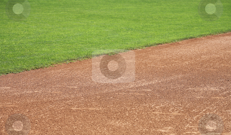 American baseball infield natural background stock photo, Softball or baseball infield natural background by Stacy Barnett