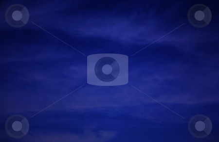 Blue night sky stock photo, Beautiful deep blue night or evening sky by Stacy Barnett