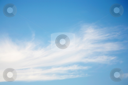 Beautiful wispy sky stock photo, Wonderfully beautiful blue sky with wispy clouds by Stacy Barnett
