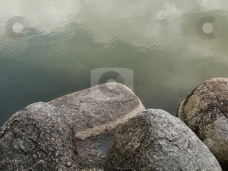 Stones and water stock photo, Stones in a zen garden by Laurent Dambies