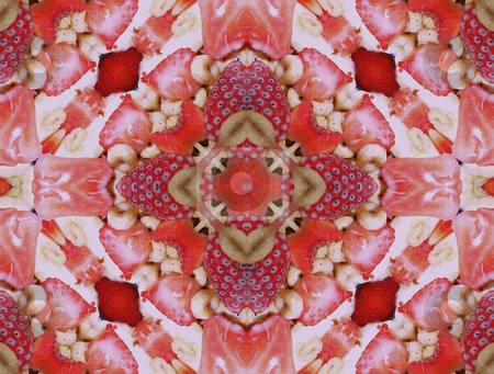Strawberry Cream Delight - Background Pattern stock photo, Strawberry Cream Delight - Background Pattern by Dazz Lee Photography