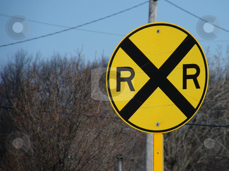 Rail Road Crossing Sign stock photo, Rail Road Crossing Sign by Dazz Lee Photography