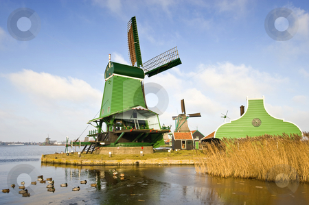 Typical Dutch Saw Mill stock photo, An old, typically Dutch saw mill at the tourist attraction