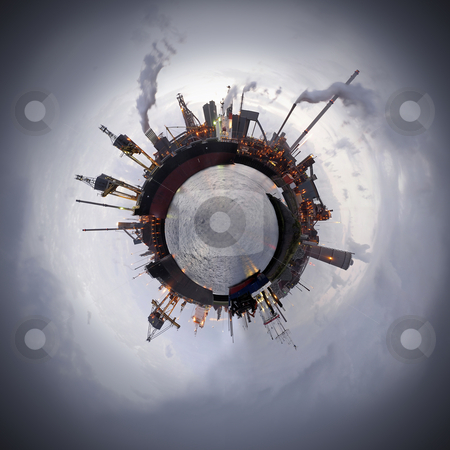 Technology Sphere stock photo, Heavy industry theme. A steel plant is a world apart. Not only because of the processes, but also of the resources. That typically applies to all industries that manufacture products from raw materials by Corepics VOF