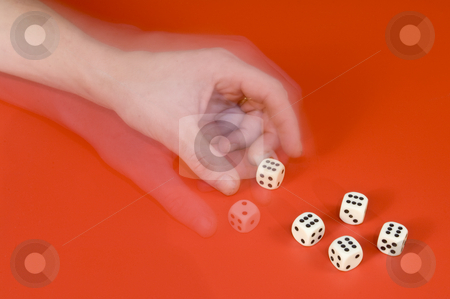 Changing the dice - Cheating big time stock photo, Big time cheating in a game of dice by Corepics VOF