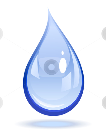 Water drop  stock vector clipart, Vector illustration of a water drop by Laurent Renault