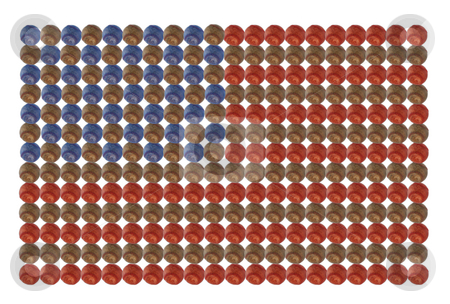 American baseball flag stock photo, American flag made out of baseballs isolated on white background by Stacy Barnett