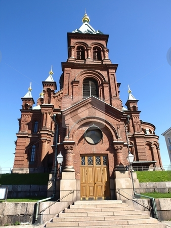 Uspensky Cathedral Helsinki stock photo, Uspensky Cathedral in Helsinki/Finland by Lars Kastilan