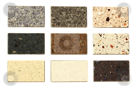 Countertop samples over white stock photo, Countertop samples over white background by Ivelin Radkov