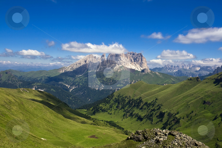 Dolomiti 2 stock photo, Summer portrait of Italian Dolomites in Fassa Valley by ANTONIO SCARPI