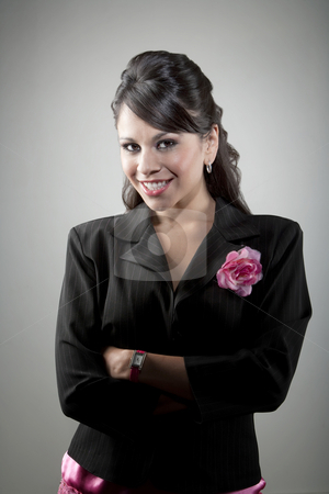 Portait of young Latina businesswoman stock photo, Portait of pretty young Latina businesswoman by Scott Griessel