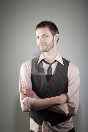 Happy young man stock photo, Portrait of happy young Caucasian man by Scott Griessel