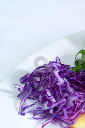 Salad ingredient on a plate stock photo, Colorfull fresh salad ingredient on a plate prepared cutted by Francesco Perre
