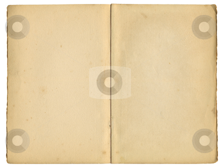Old inside pages from a vintage book, isolated over white. stock photo, Old inside pages from a vintage book, isolated over white. by Stephen Rees