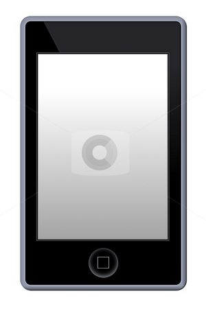 MP3 Phone Player stock photo, Illustration of a MP3 Phone Player on white background. by Henrik Lehnerer