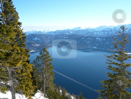 Moutain  stock photo, Mountain and lake in Bavaria by Fabrice Teboul