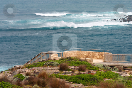 Walkway and waves in South Australia stock photo, Walkway and waves at Flinders Chase National Park, Kangaroo Island, South Australia by Stephen Goodwin