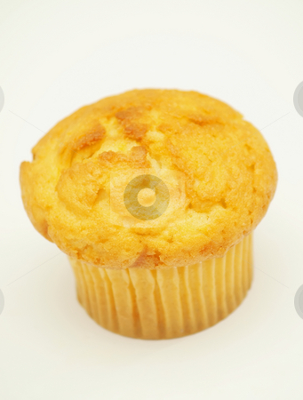 Cupcake stock photo, A muffin, or cupcake on a white background by Arve Bettum