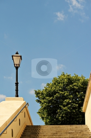 Old lam in city stock photo, Lamp in an historical city in Europe by Juraj Kovacik