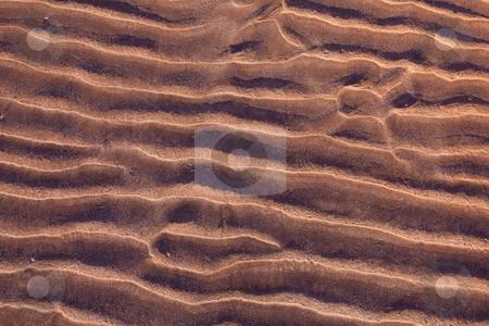 Sand ripples stock photo, Sand ripples on beach creating nice patterns by Dirk Ercken