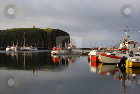 Stykkisholmur Harbor stock photo, Boats docked at the marina in Stykkisholmur, Iceland by Daniel Rosner
