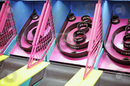 Skee Ball Arcade Game stock photo, Skee Ball Arcade Game by Kim Stanley