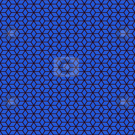 Blue glossy pattern stock photo, Seamless texture of black maze on blue shiny background by Wino Evertz