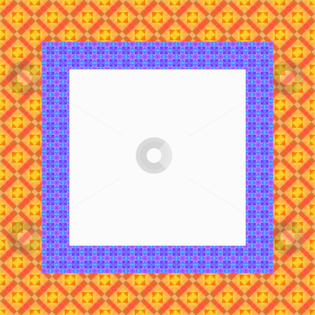 Retro frame stock photo, Square frame with pattern in bright retro colors by Wino Evertz
