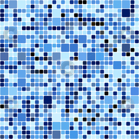 Blue squares pattern stock photo, Seamless texture of many blue blocks in different sizes by Wino Evertz
