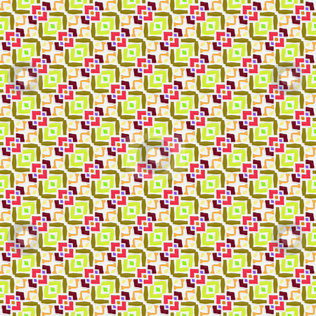 3d festive pattern stock photo, Seamless texture of pastel color repeating abstract shapes by Wino Evertz