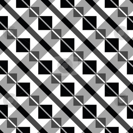 Art deco block pattern stock photo, Seamless texture of diagonal lines of blocks by Wino Evertz