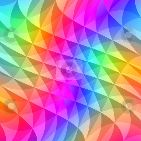 Prism squares pattern stock photo, Texture of waving shapes in bright colors by Wino Evertz