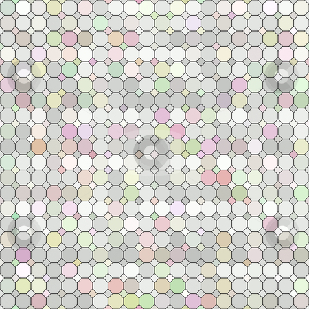 Pastel colored grid stock photo, Seamless texture of different pastel colored tiles by Wino Evertz