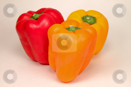 Group of Sweet Bell Peppers stock photo, Group of sweet bell peppers by Richard Walker