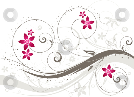 Floral background stock vector clipart, Decorative abstract floral background by Kirsty Pargeter