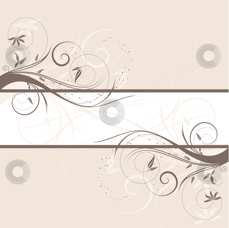 Floral background stock vector clipart, Decorative floral background by Kirsty Pargeter