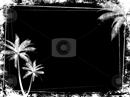 Grunge palm tree background stock vector clipart, Grunge style palm tree background by Kirsty Pargeter