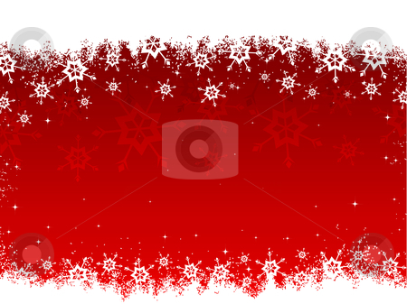 Snowflakes stock vector clipart, Grunge style snowflake background by Kirsty Pargeter