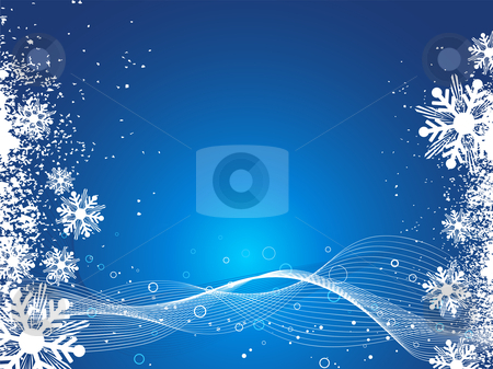 Grunge snowflakes stock vector clipart, Grunge style snowflake background by Kirsty Pargeter