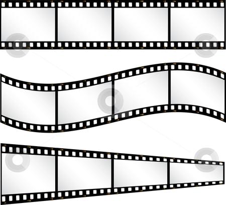 Filmstrip backgrounds stock vector clipart, Various filmstrip backgrounds by Kirsty Pargeter