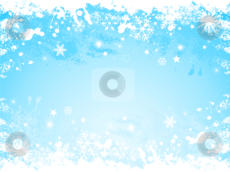 Grunge snowflake background stock vector clipart, Grunge background of snowflakes by Kirsty Pargeter