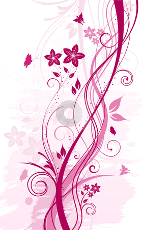 Floral abstract  stock vector clipart, Decorative floral background by Kirsty Pargeter
