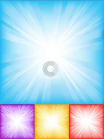 Abstract backgrounds stock vector clipart, Colourful starburst backgrounds by Kirsty Pargeter