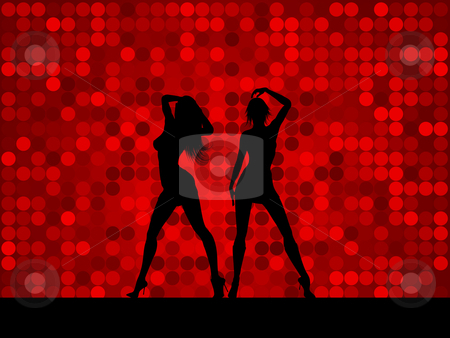 Sexy females stock vector clipart, Silhouettes of two sexy females by Kirsty Pargeter