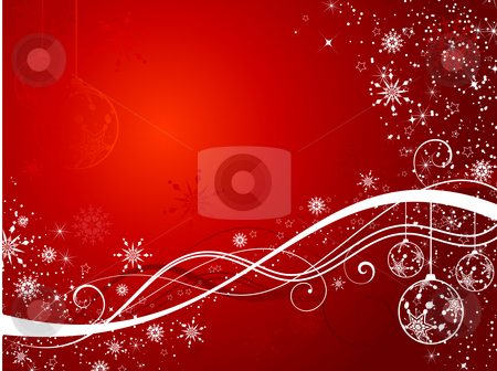Decorative christmas background stock vector clipart, Decorative Christmas background by Kirsty Pargeter