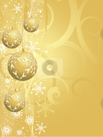 Gold christmas background stock vector clipart, Decorative gold Christmas background by Kirsty Pargeter