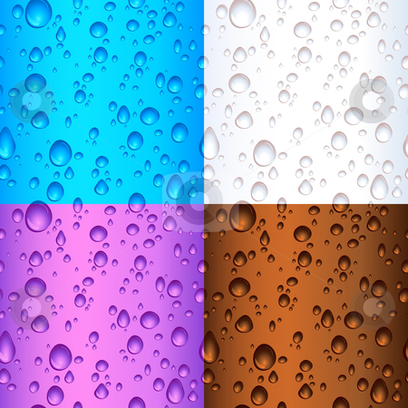 Seamless tile water drop backgrounds stock vector clipart, Different coloured seamless tile water drop backgrounds by Kirsty Pargeter