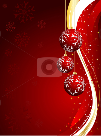 Christmas background stock vector clipart, Decorative Christmas background by Kirsty Pargeter