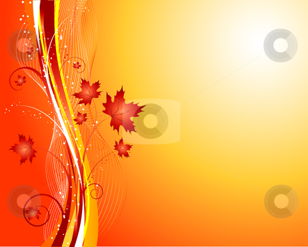 Autumn abstract stock vector clipart, Decorative autumnal background by Kirsty Pargeter